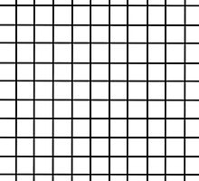 White Tumblr Grid Pattern by breelyy