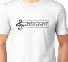HIP HOP - Words in Music - V-Note Creations Unisex T-Shirt