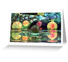 Abstract Lemon - Lime Anybody? Greeting Card