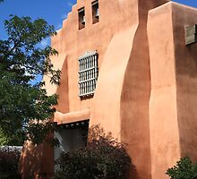 Santa Fe - Adobe Church by Frank Romeo