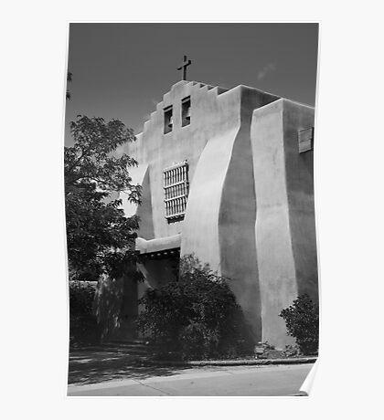 Santa Fe - Adobe Church Poster