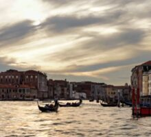 Impressions of Venice - the Grand Canal in Silver and Pearl Sticker