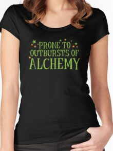 Halloween funny: Prone to outbursts of ALCHEMY  Women's Fitted Scoop T-Shirt