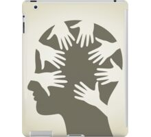 Head of hands iPad Case/Skin