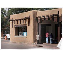 Santa Fe, New Mexico - Adobe Building Poster