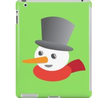 Cute snowman smiling with a top hat iPad Case/Skin