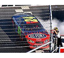 Jeff Gordon Wins At Martinsville Speedway Photographic Print