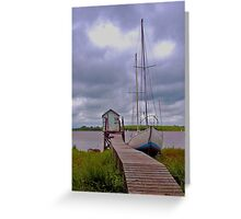 Jetty &  Boat Greeting Card