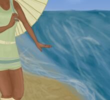 Tiana's day at the beach Sticker