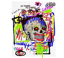 Grocery List  Neo Goth Skull Photographic Print