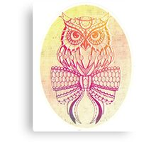 Colourful owl Canvas Print