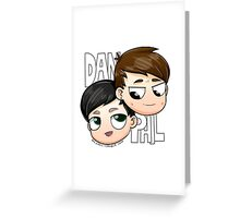 Chibi Dan and Phil Greeting Card