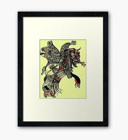 The elephant lion Framed Print