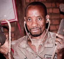 African Medicine Man (asinganga) by Tim Cowley