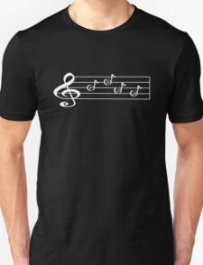 PROG - Words in Music - V-Note Creations (white text) Unisex T-Shirt