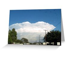 into the cloud Greeting Card