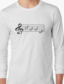 PUNK - Words in Music - V-Note Creations (white text) Long Sleeve T-Shirt