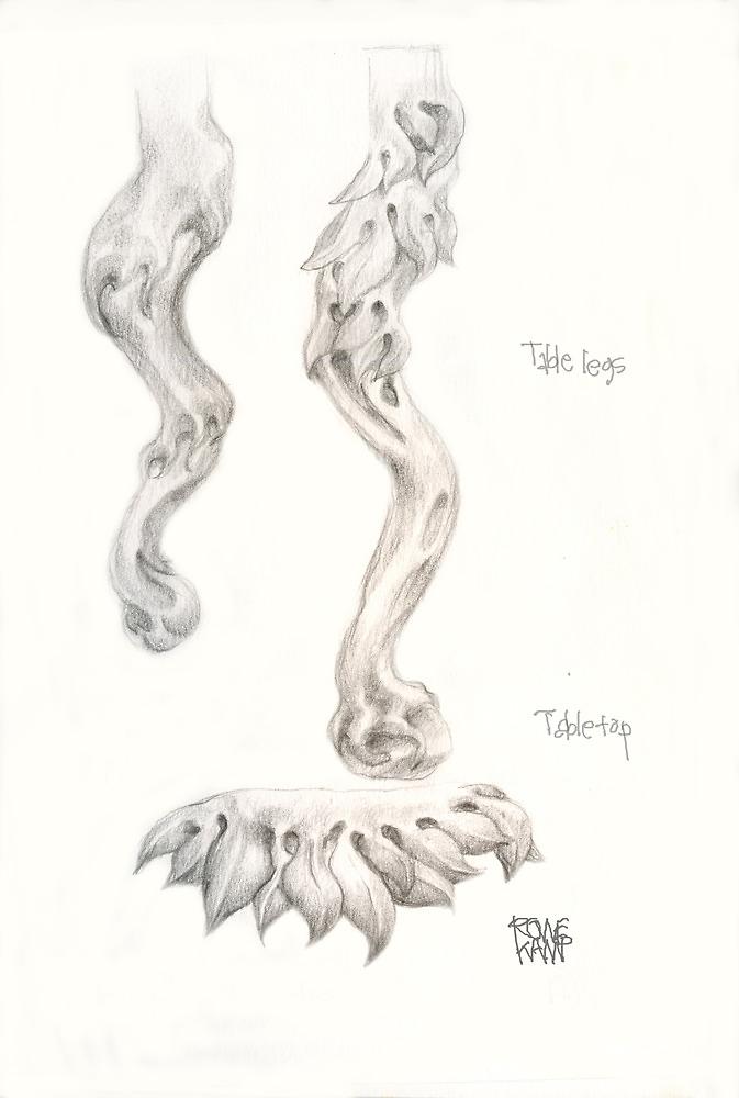 Table Legs no. 1 by Jeffrey Rowekamp