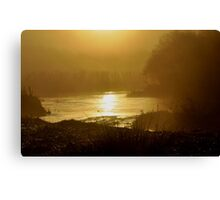 Golden sun rise Canvas Print