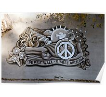 Bisbee Peace Wall Poster