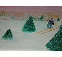 Early On The Slopes Photographic Print