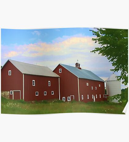Charlotte Barn Watercolor Poster