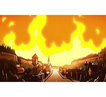 Gravity Falls, Fire  Photographic Print