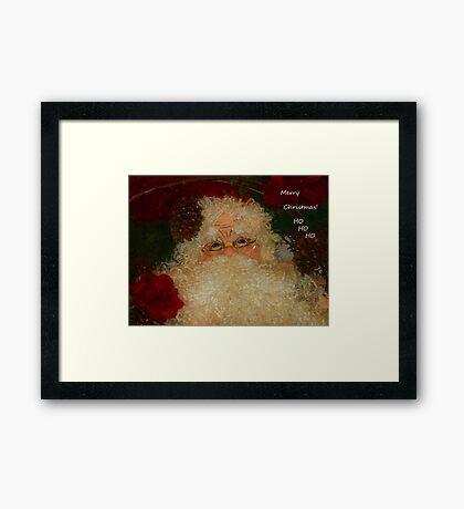Merry Christmas Ho Ho Ho Framed Print