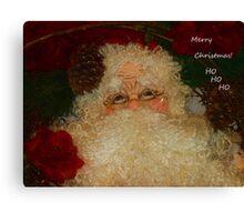 Merry Christmas Ho Ho Ho Canvas Print