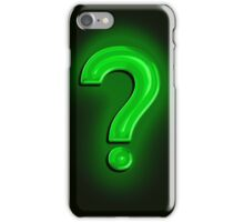 Question Mark Light Bulb iPhone Case/Skin