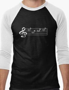 ROCK - Words in Music - V-Note Creations (white text) Men's Baseball ¾ T-Shirt