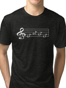 SOUL - Words in Music - V-Note Creations (white text) Tri-blend T-Shirt