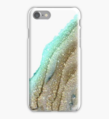BLUE GLITTER GOLD iPhone Case/Skin