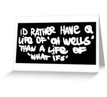 Life is Strange - Oh well Graffiti white Greeting Card