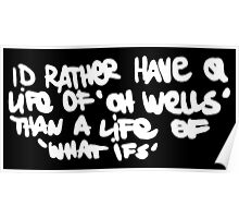 Life is Strange - Oh well Graffiti white Poster