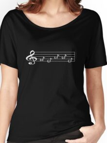 METAL - Words in Music - V-Note Creations (white text) Women's Relaxed Fit T-Shirt