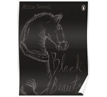 Black Beauty Book Cover print Poster