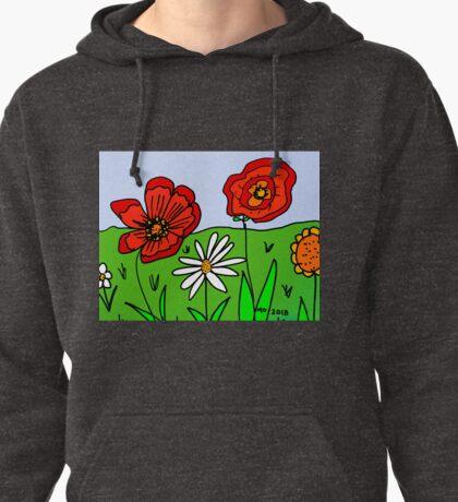 Poppies Grow in Mo's Garden Pullover Hoodie