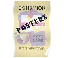 WPA United States Government Work Project Administration Poster 0246 Exhibition Posters Federal Art Project Poster
