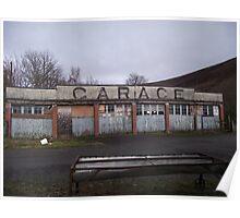 Old Garage Building Poster