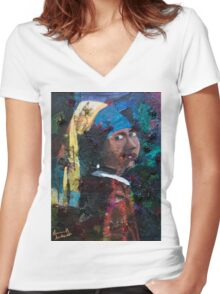 Classic Beauty Women's Fitted V-Neck T-Shirt