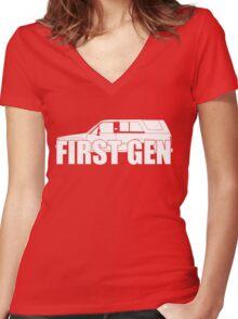 First Gen  Women's Fitted V-Neck T-Shirt