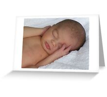 Sleep Pure Sleep  Greeting Card
