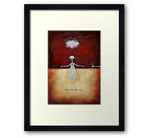 Meet me half way Framed Print