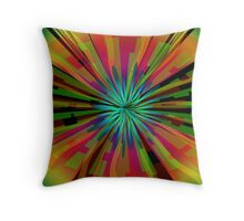 Colorful Psychedelic Pattern Throw Pillow