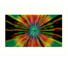 Colorful Psychedelic Pattern Art Print