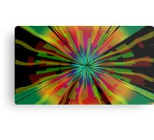 Colorful Psychedelic Pattern Metal Print