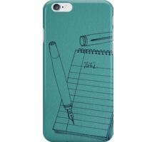 Inky Notes iPhone Case/Skin