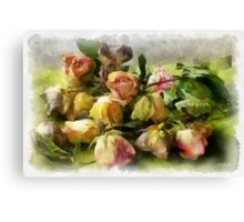 Sleeping roses Canvas Print