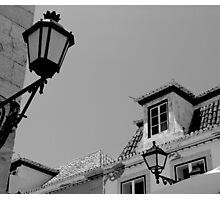 Old Lamp - Vila Real Sto Antonio, Portugal Photographic Print